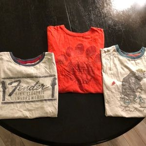 THREE Lucky Brand boys M short-sleeved t-shirts